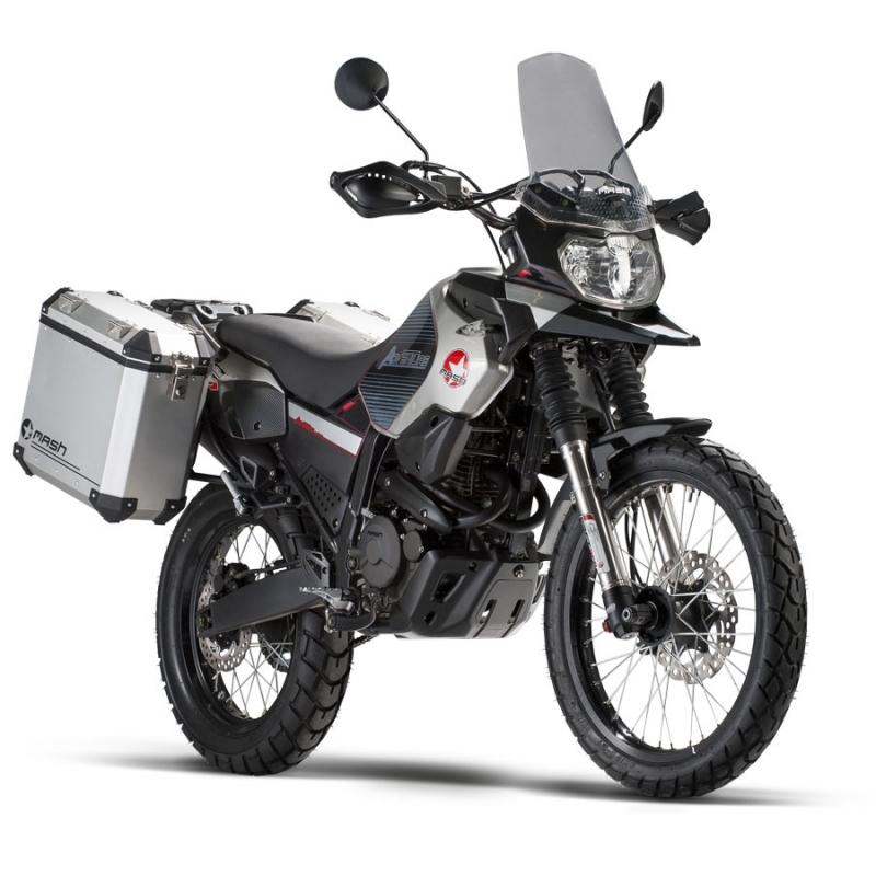 mash adventure 400cc with side cases touring. Black Bedroom Furniture Sets. Home Design Ideas
