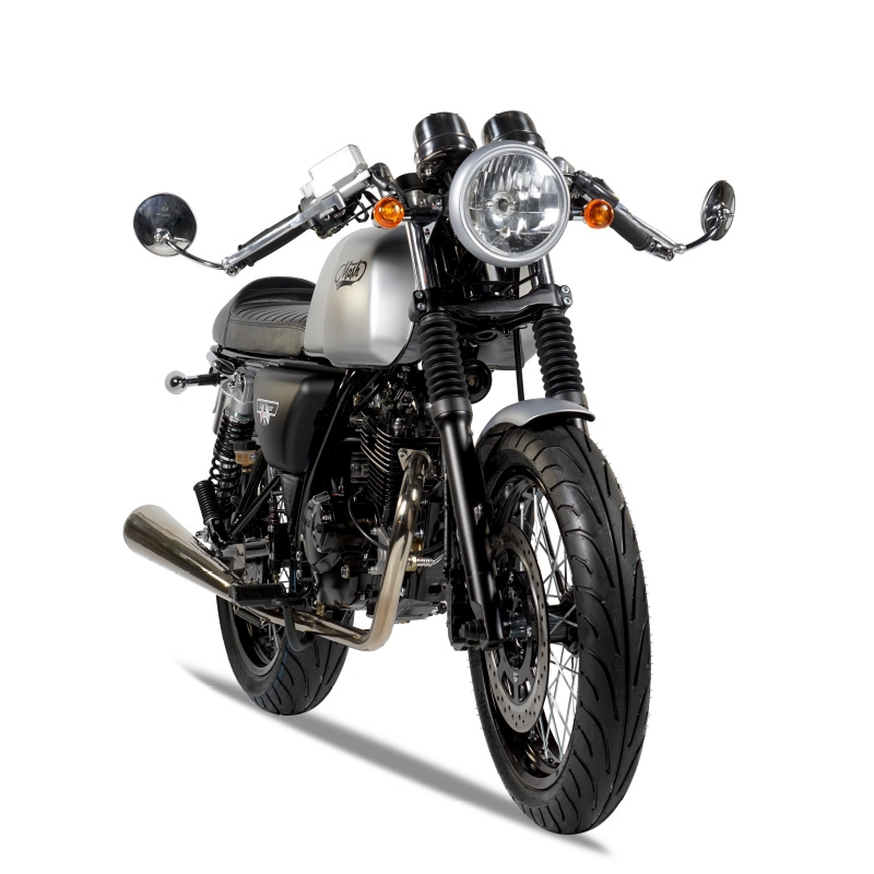 mash cafe racer 125cc silver mat mash motors. Black Bedroom Furniture Sets. Home Design Ideas